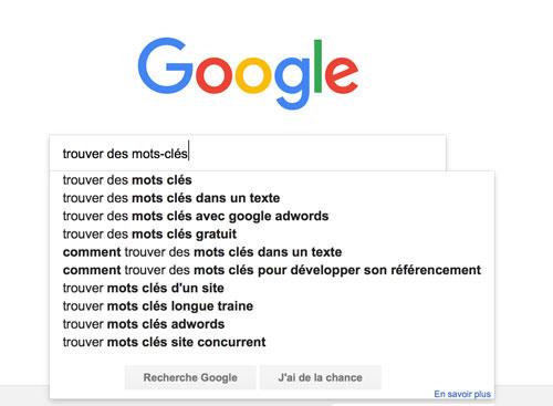 Trouver des mots-clés pour le référencement Google