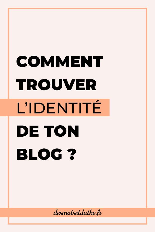Comment trouver l'identité de ton blog ?