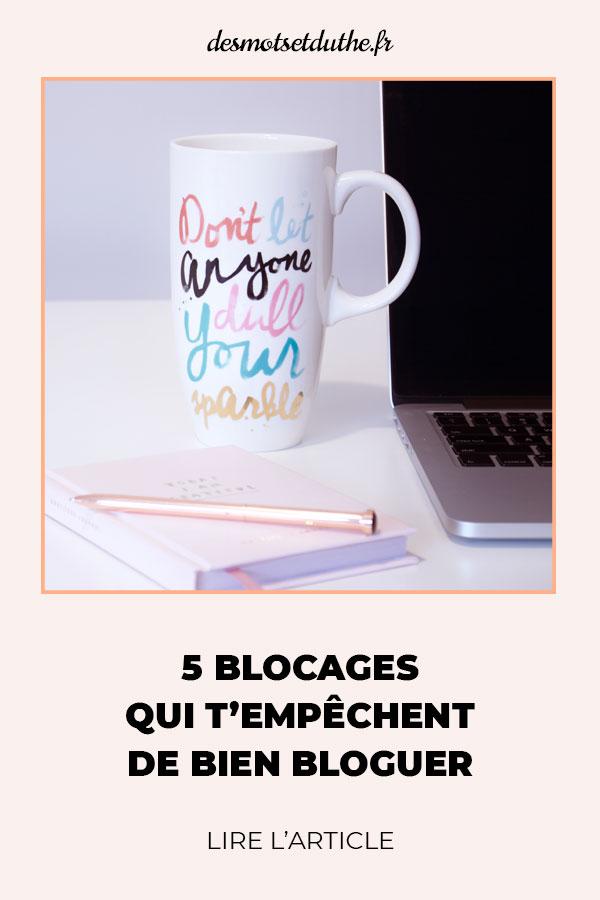 blocages qui empêchent de bloguer
