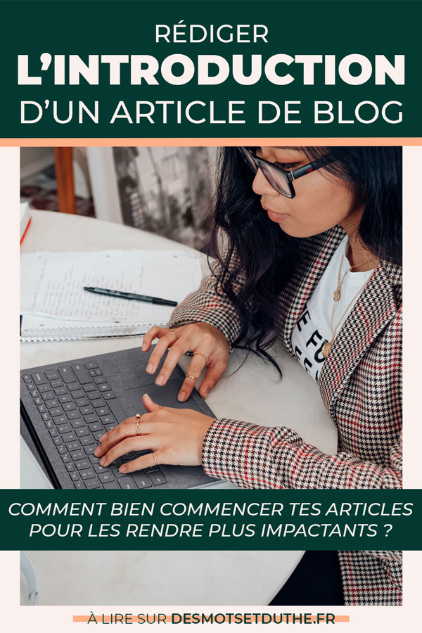 Rédiger l'introduction d'un article de blog