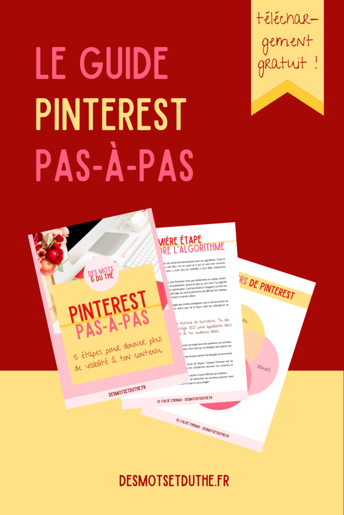 Freebie : le guide Pinterest pour les entrepreneuses